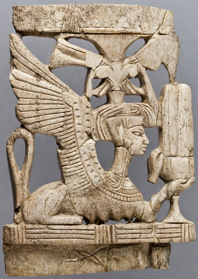 Ivory Plaque from Megiddo, Late Bronze IIB (1300–1200 BCE), OIM A22213
