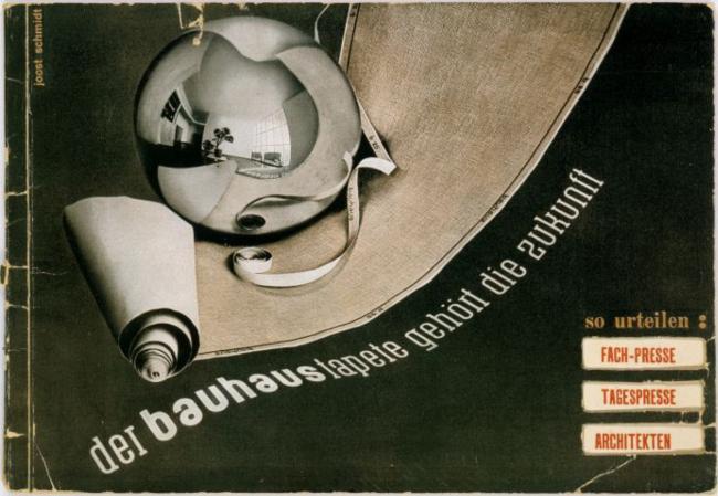 "Joost Schmidt, ""der bauhaus tapete gehört die zukunft"" (The Future Belongs to Bauhaus Wallpaper), 1931"