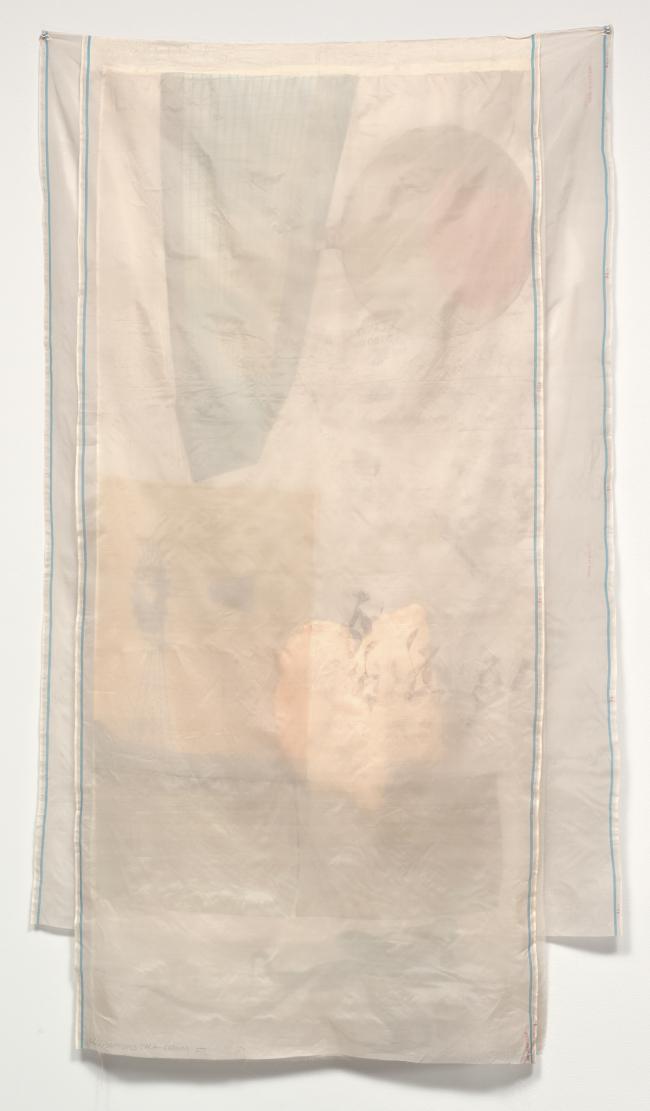 Robert Rauschenberg, Scent, 1974. National Gallery of Art, Washington DC. Paper bags, silkscreen fabric, silk chiffon.