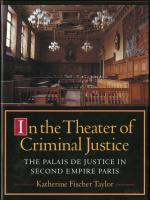 Theater of Criminal Justice cover