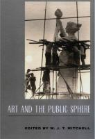 Art and the Public Sphere cover