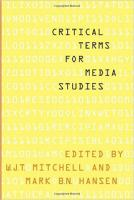 Critical Terms for Media studies cover