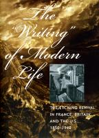 The Writing of Modern Life: the Etching Revival in France, Britain, and the U.S., 1850-1940