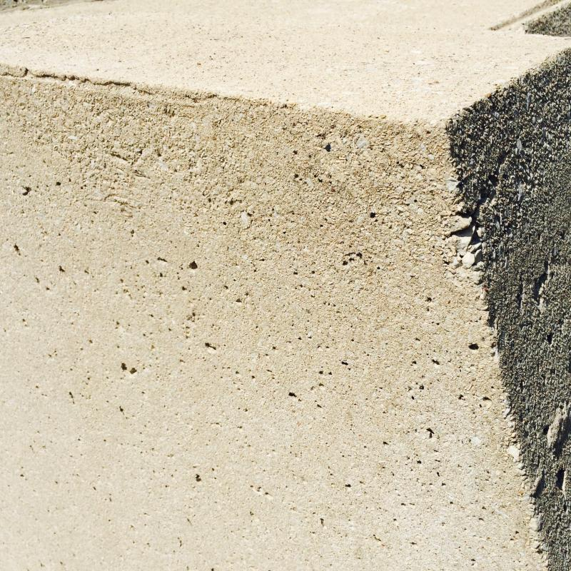 Concrete corners of the car