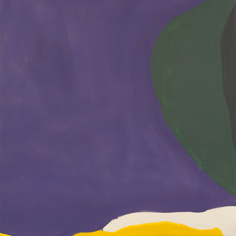 Detail: Helen Frankenthaler, Santorini, 1965, acrylic on canvas. Art Institute of Chicago.