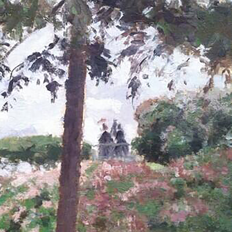 Camille Pissarro, The Public Garden at Pontoise, 1874, the Metropolitan Museum of Art. Detail photos Rachel Cohen.