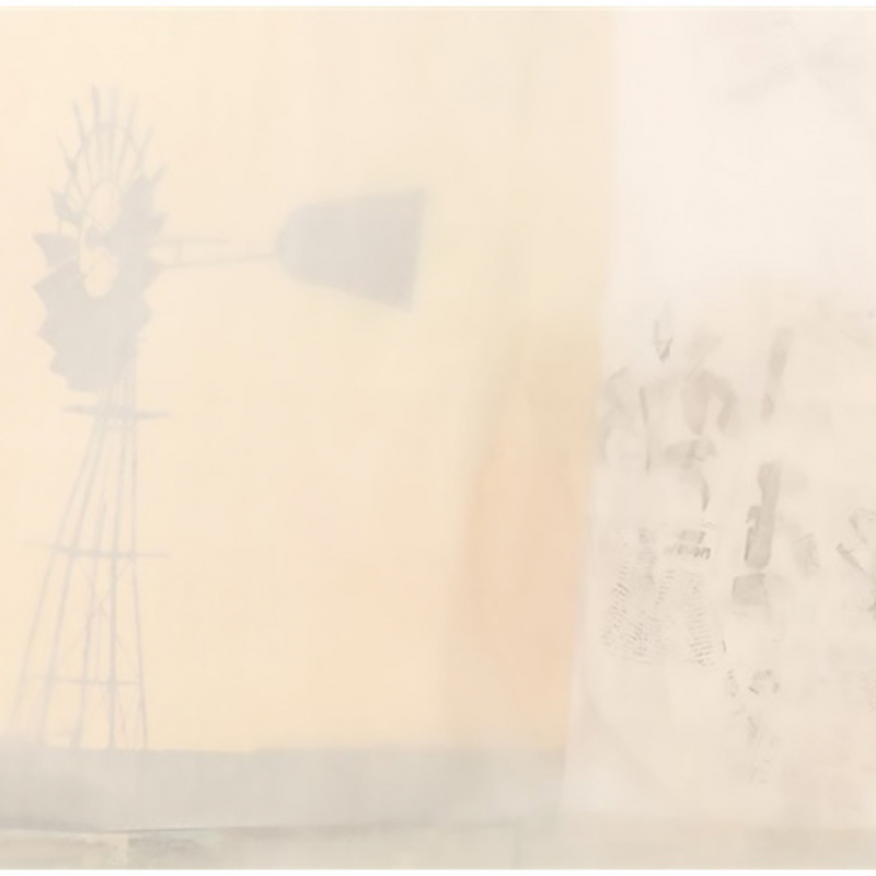 Robert Rauschenberg, Scent, 1974. National Gallery of Art, Washington DC. Paper bags, silkscreen fabric, silk chiffon.