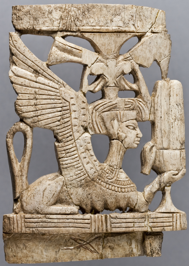 Ivory Plaque from Megiddo, Late Bronze IIB (1300–1200 BCE), OIM A22213