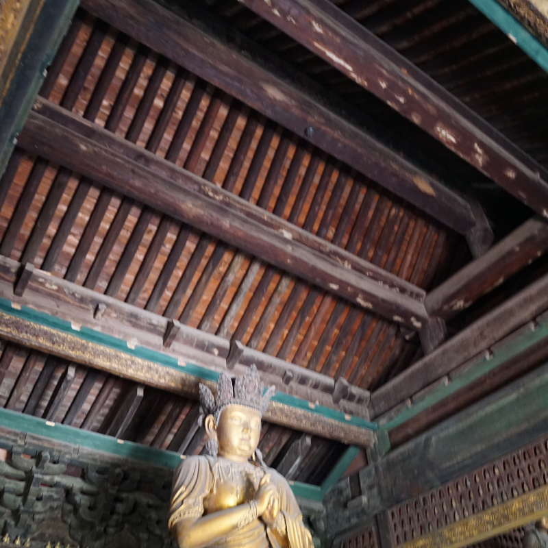 Zhihua Temple missing ceiling
