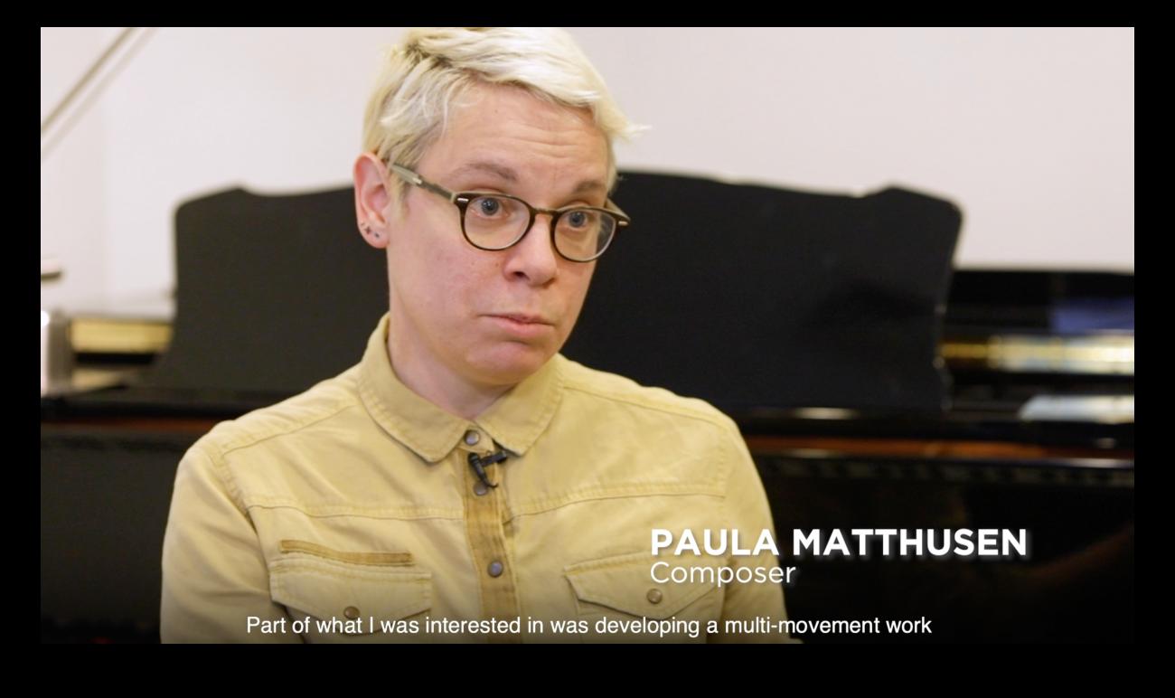 Paula Matthusen in interview with CCCC