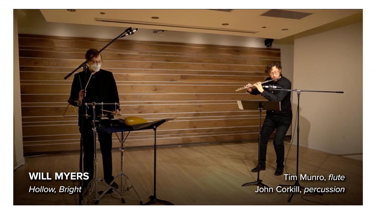 Tim Munro, flute and John Corkill, percussion in performance