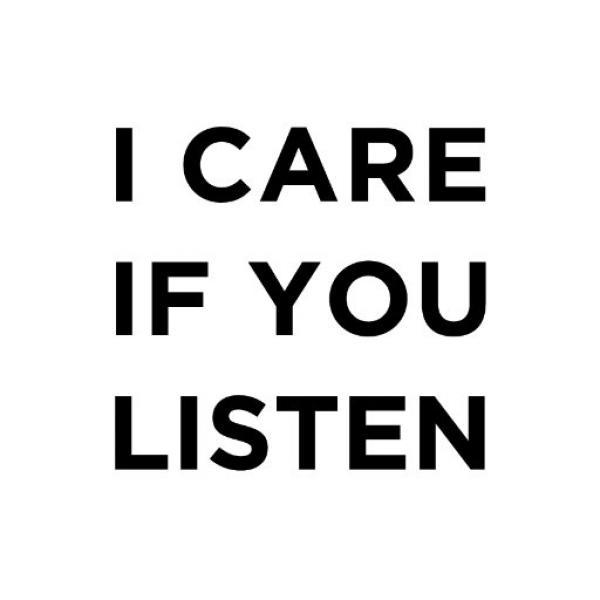 I care if you listen logo