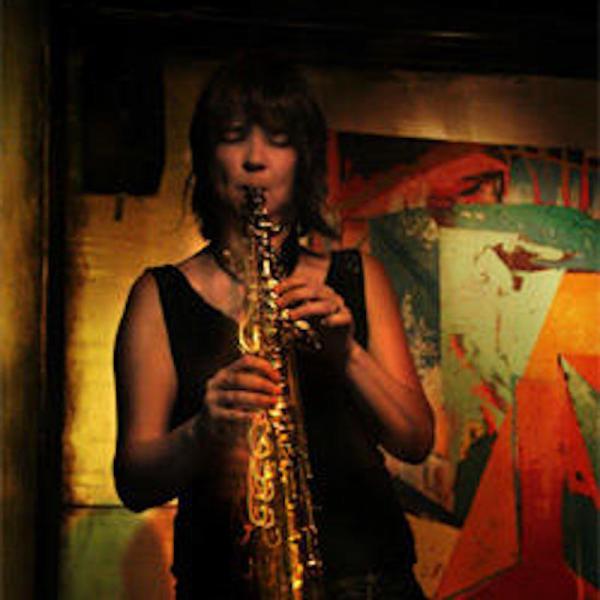 Ingrid Laubrock playing saxophone