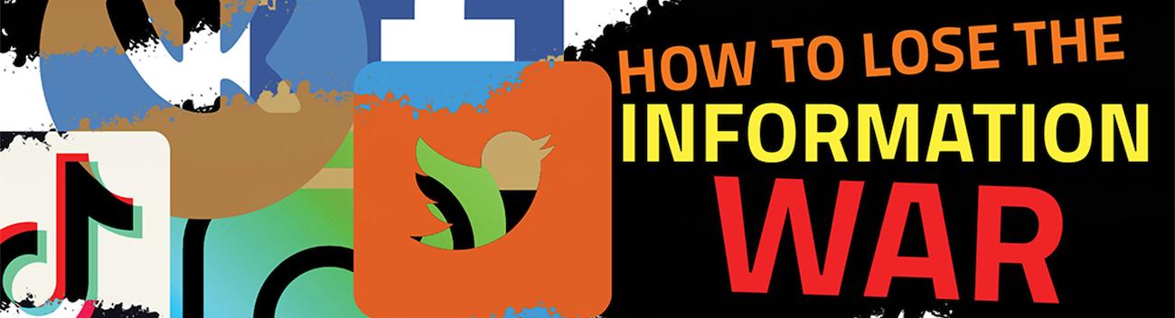 banner for information war event
