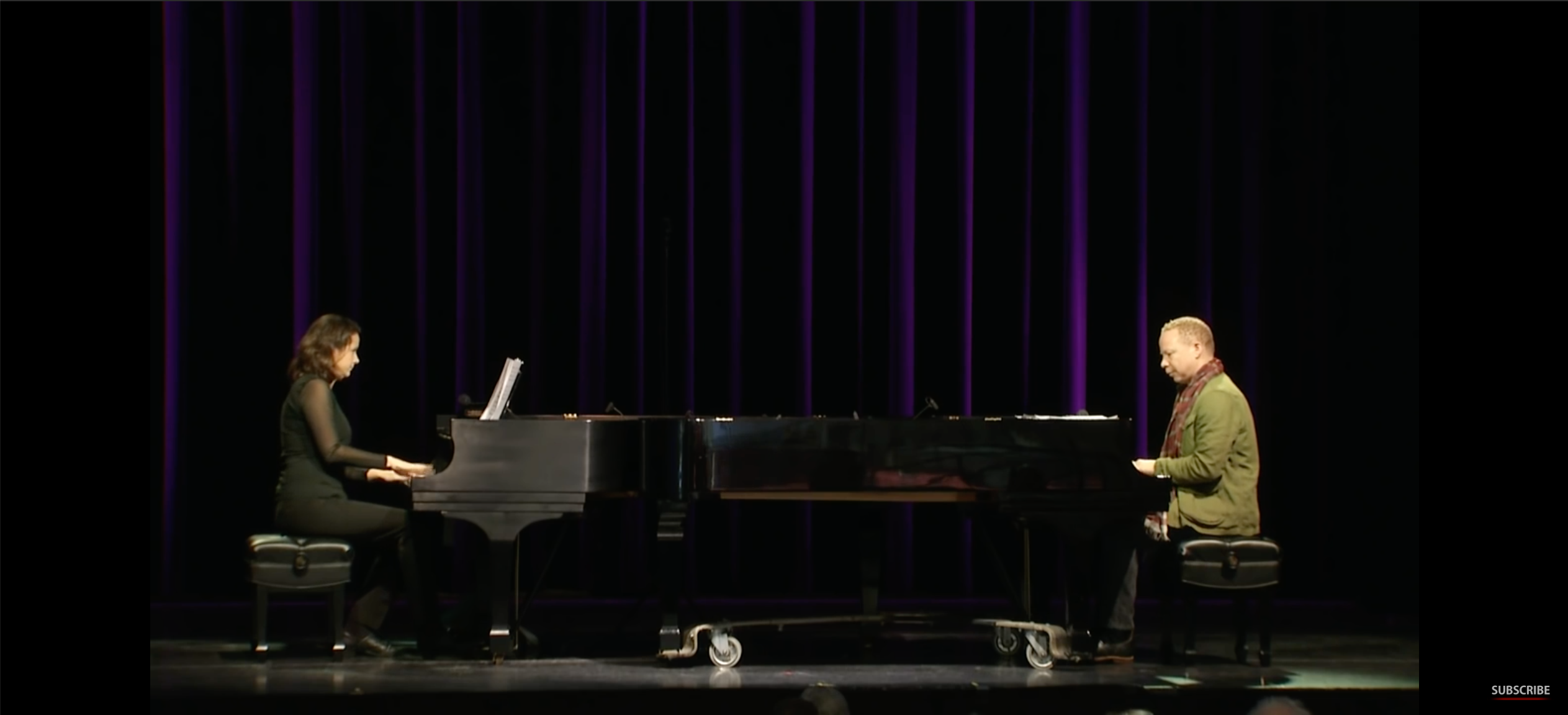 Craig Taborn and Kris Davis perform on the Millennium Stage