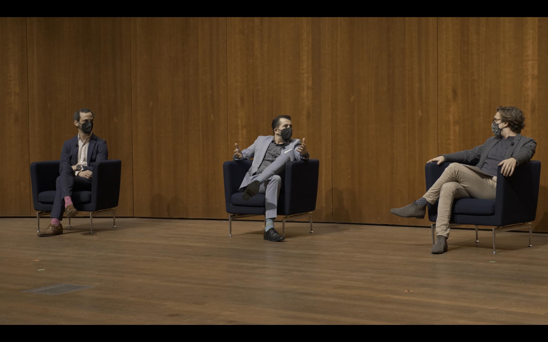 Members of Axiom Brass in conversation with Gabriel Novak