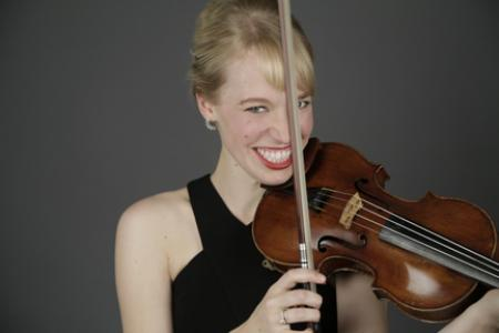 Robyn Bollinger with violin