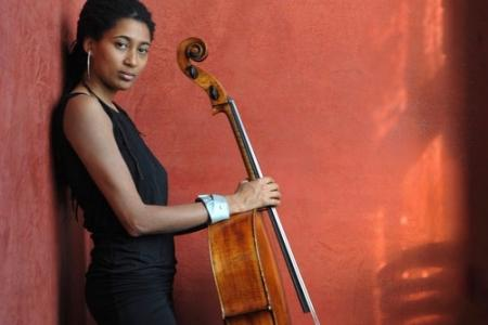 Tomeka Reid with cello