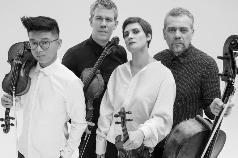 Quatuor Diotima black and white