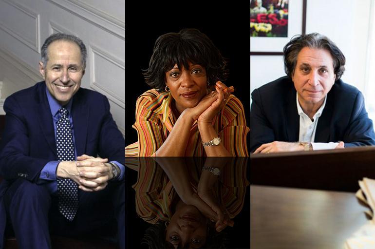 Collage image showing Michael Boriskin, Richard Danielpour, and Rita Dove