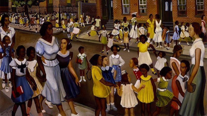 Allan Rohan Crite, School's Out, Smithsonian Museum of American Art