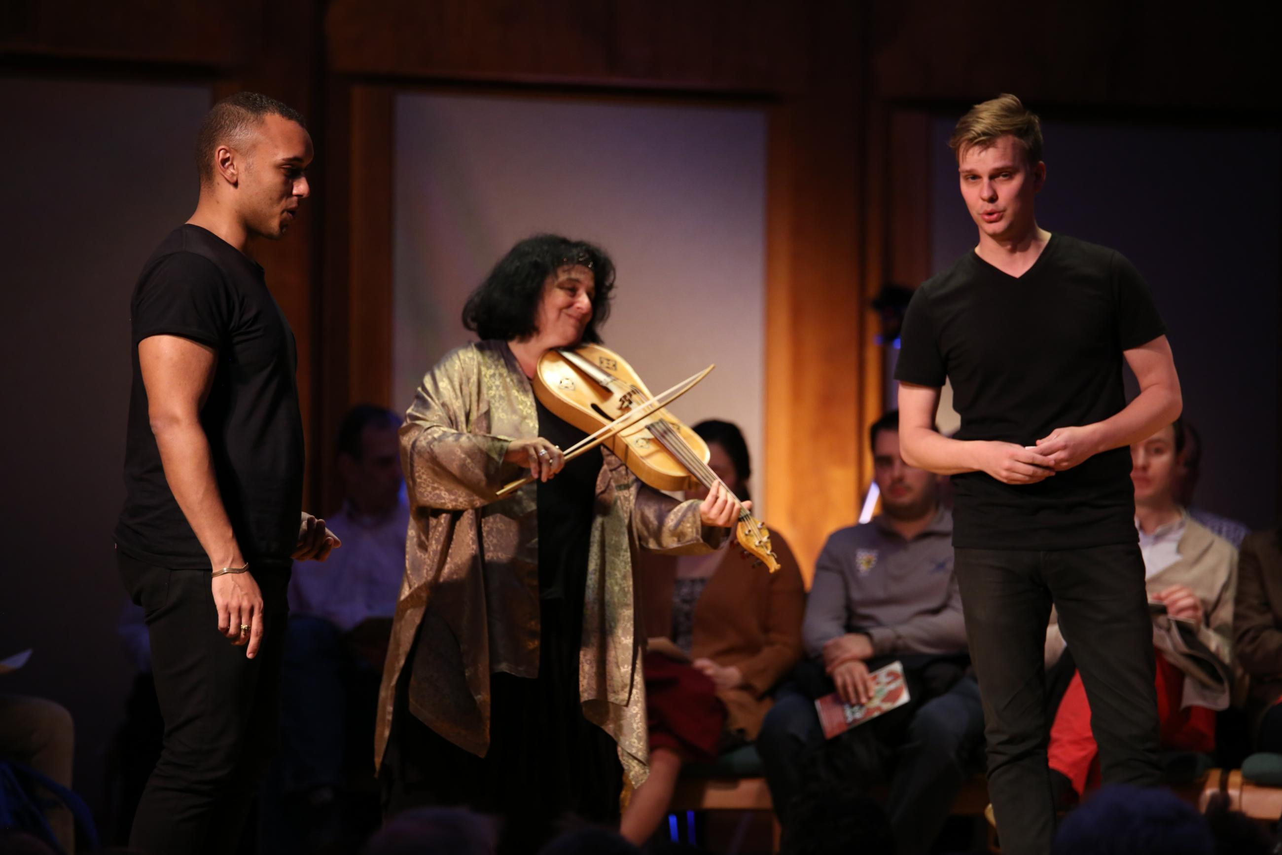 Photo from a performance of The Night's Tale by the Boston Camerata