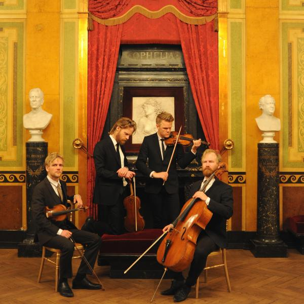 Danish String Quartet with instruments
