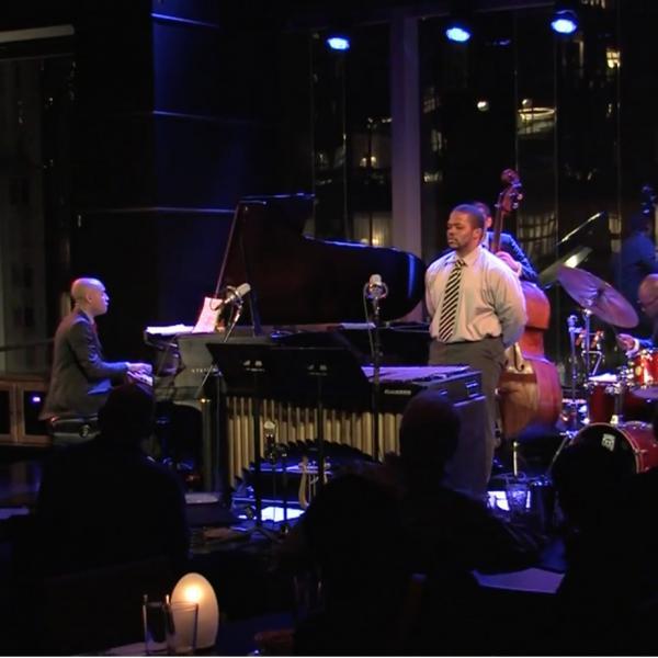 Aaron Diehl Trio with Warren Wolf in performance at Jazz at Lincoln Center