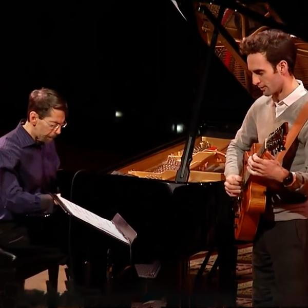 Fred Hersch and Julian Lage in performance