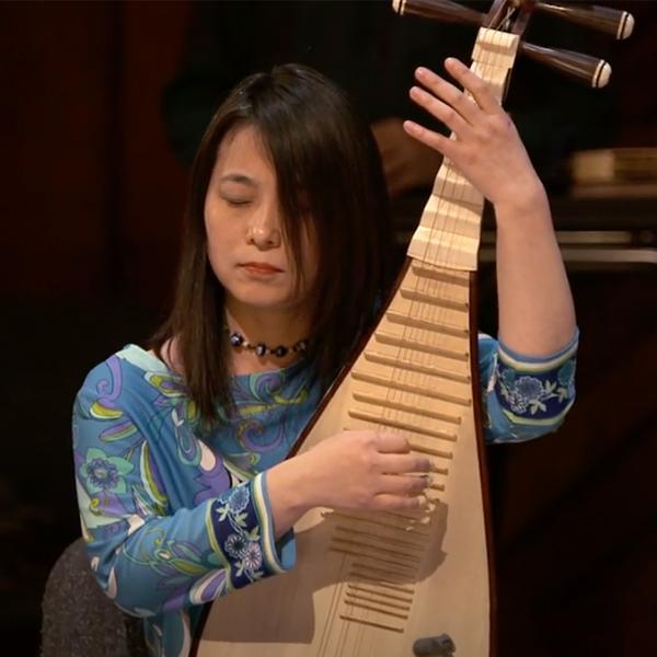 Wu Man playing the pipa