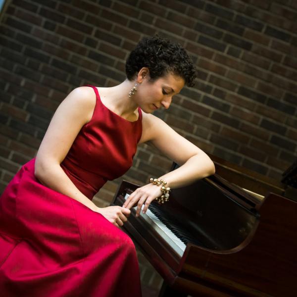 Clare Longendyke at the piano