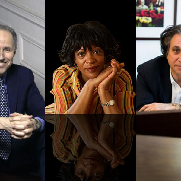 Collage image showing Michael Boriskin, Richard Danielpour, and Rita Dove