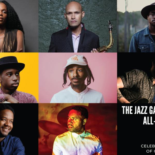 Collage photo of the members of the Jazz Gallery All-Stars