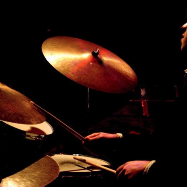 Pete Van Nostrand playing drums