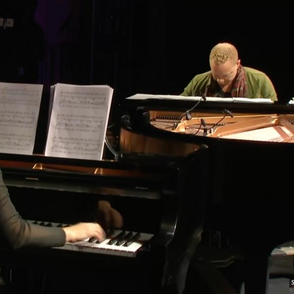 Screenshot from video of Craig Taborn and Kris Davis performing on Millennium Stage