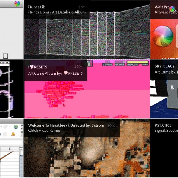 A screenshot of some of Satrom's works, via his website.
