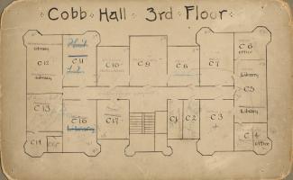 Cobb Hall - 3rd Floor Plan; UChicago Photo Archive
