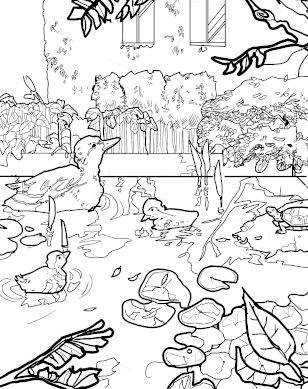 Botany Pond coloring page download