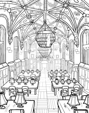 Harper Memorial Library coloring page download