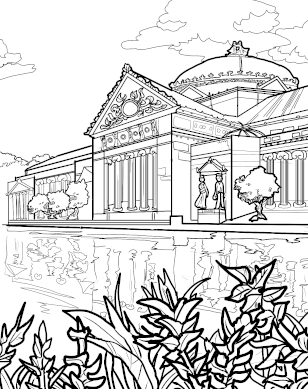 Museum of Science and Industry coloring page download