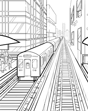 L train coloring page download