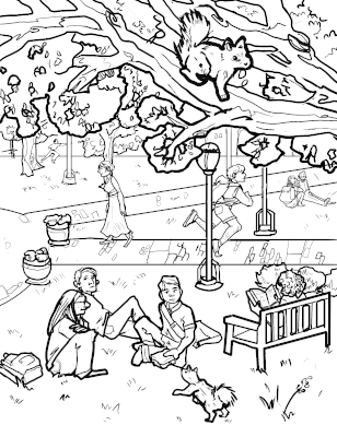 The Quad coloring page download