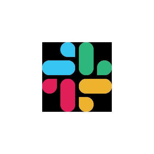 Multicolored symbol for Slack chat software.