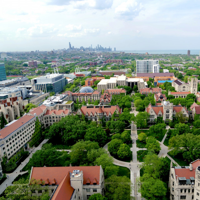 Picture of UChicago's campus from above.