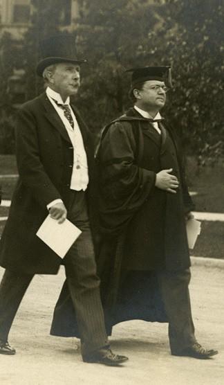 John D. Rockefeller and William Rainey Harper.