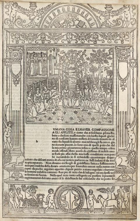 decameron, historic manuscript