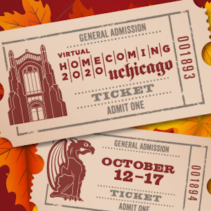 Homecoming 2020 ticket illustration