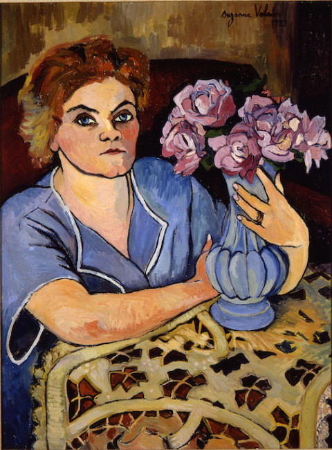 """""""Portrait of Lily Walton,"""" a 1923 oil painting by Suzanne Valadon."""