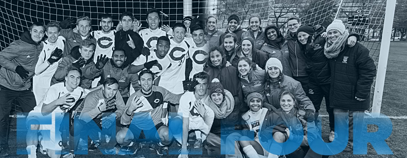 de6d19e2c5 A blend of photos showing the 2017 Division III Men s and Women s soccer  teams posed as