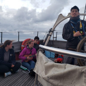 UChicago students aboard the SSV Corwith Cramer